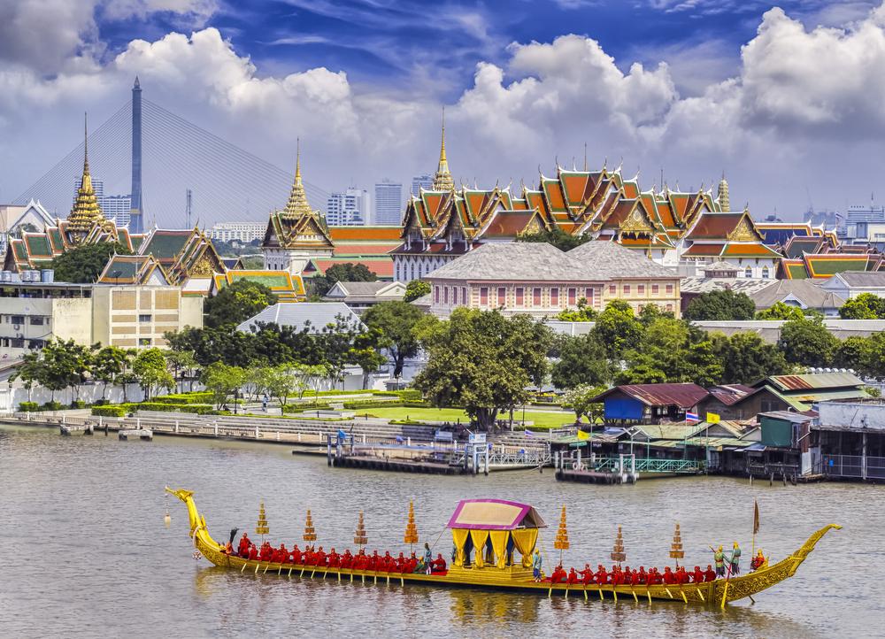 Landscape of Thai's king palace, Thailand